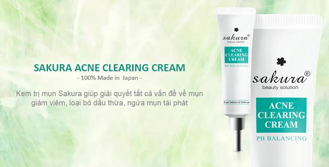 kem tri mun sakura acne clearing cream