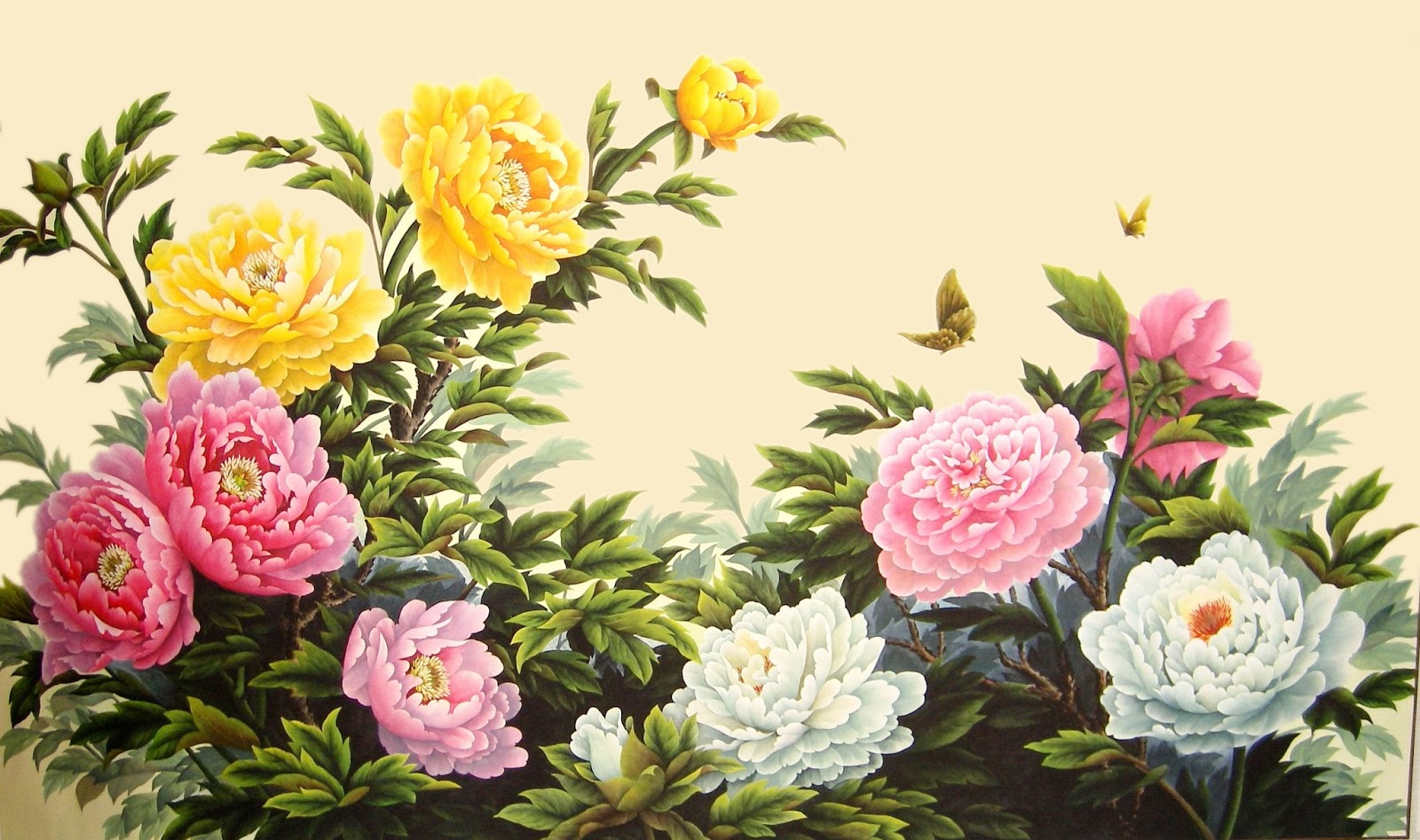 Tranh phong thuy hoa mau don
