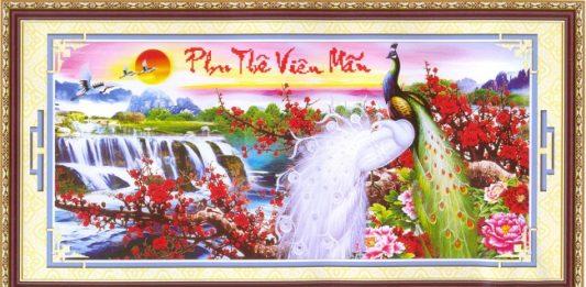 tranh treo tuong phu the vien man