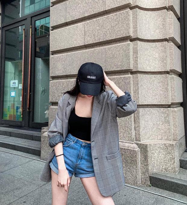 blazer voi jeans cap cao